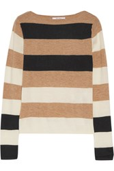 Max Mara Striped Cashmere Sweater Beige