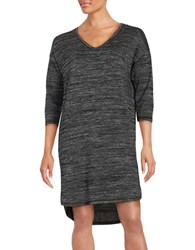 Lord And Taylor Three Quarter Sleeve Sleep Dress Black