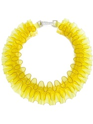 Mary Katrantzou Ruffle Necklace Yellow And Orange