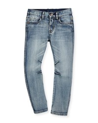 Molo Alonso Faded Straight Leg Jeans Worn Denim