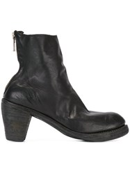 Guidi Back Zip High Heel Boots Black