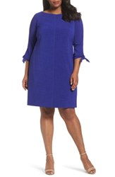 Tahari Plus Size Women's Tie Sleeve Shift Dress Violet