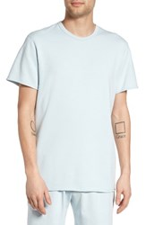 Reigning Champ Men's Raw Edge T Shirt Sky Blue