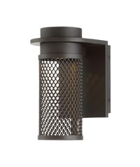 W.A.C. Lighting Mesh Led Outdoor Wall Light Brown