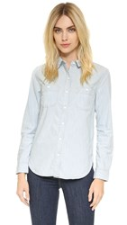 Levi's Workwear Boyfriend Button Down Railroad Stripe