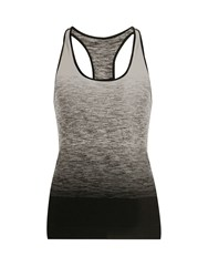 Pepper And Mayne Racer Back Ombre Compression Performance Tank Top Black White