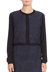 Lafayette 148 New York Aurora Jacquard Shrug Ink Multi