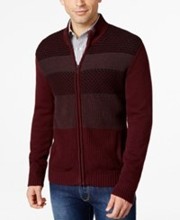Alfani Full Zip Colorblocked Cardigan Only At Macy's