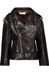Marques' Almeida Oversized Leather Jacket Dark Brown