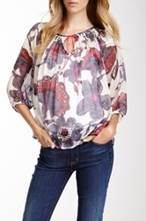 Kas Tanya Printed Silk Blouse Multi