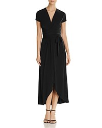 Michael Michael Kors Cap Sleeve Maxi Wrap Dress Black