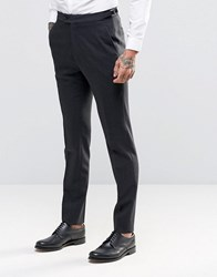 Hart Hollywood By Nick Skinny Smart Trousers In Flannel Charcoal Grey