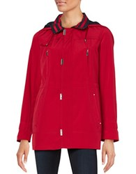 Gallery Hooded Walker Jacket Red
