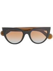 Moncler Eyewear Cat Eye Sunglasses Black