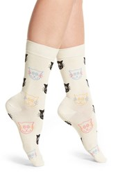 Happy Socks Women's Cat Crew