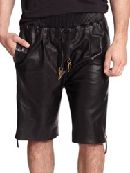 Giuseppe Zanotti Leather Shorts Black