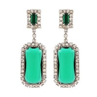 Passionate About Vintage Vintage Emerald Rhinestone Earrings