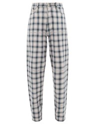 Eytys Benz Tartan Cotton Trousers Black Multi
