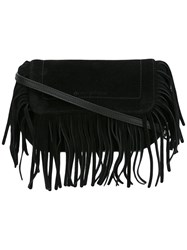 L'autre Chose Fringe Shoulder Bag Black