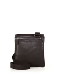 Salvatore Ferragamo Manhattan Leather Crossbody Bag Dark Brown