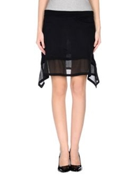 Cora Groppo Knee Length Skirts Black