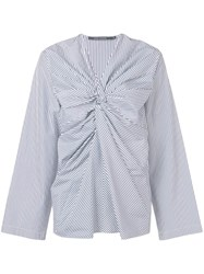 Sofie D'hoore Striped Knot Top Blue