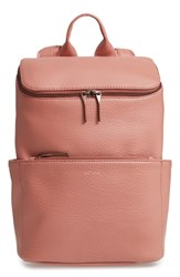 Matt And Nat 'Brave' Faux Leather Backpack Pink Clay
