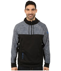 Cinch 1 4 Zip Technical Hoodie Raglan Black Men's Sweatshirt
