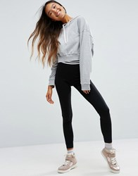 Asos Leggings With Tipped Elastic Waistband Black