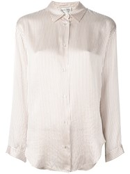 Forte Forte Pinstriped Button Down Shirt Nude And Neutrals