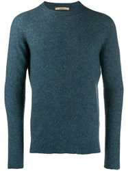 Nuur Fine Knit Sweatshirt Blue