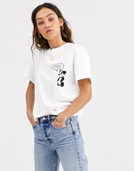 Weekday Alanis T Shirt Deep Breath In White