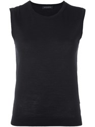 Piazza Sempione Knit Tank Top Black