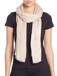 Tilo Wood Grain Cotton And Modal Scarf Blue Beige