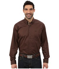 Cinch Long Sleeve Solid Twill Extra Camo Tri Brown Men's Clothing