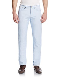 Sand Cotton Linen Pants Light Blue