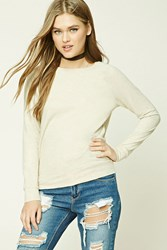 Forever 21 Crew Neck Sweater Oatmeal