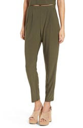 Leith Women's Pleat Front Trousers Olive Sarma