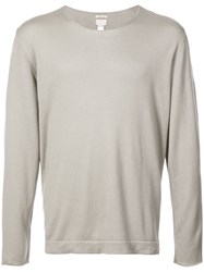 Massimo Alba Watercolor Lightweight Sweater Green