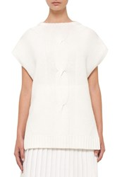 Akris Punto Women's Wool And Cashmere Cap Sleeve Sweater