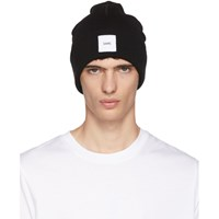 Oamc Black Logo Watch Beanie