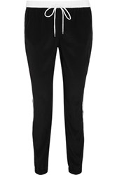 Michael Michael Kors Satin Track Pants Black