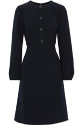 Mikael Aghal Woman Embellished Cady Dress Navy