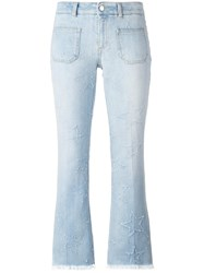 Stella Mccartney Skinny Kick Embroidered Star Jeans Blue