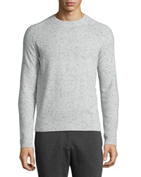 Atm Donegal Cashmere Crewneck Sweater Dark Gray
