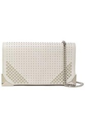 Elena Ghisellini Woman Studded Leather Clutch Off White Off White