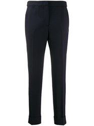 Pt01 Formal Cropped Trousers Blue