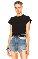 Alexander Wang T By High Twist Fitted Bodysuit In Black