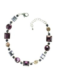 Indulgence Lilac Tone Crystal Silver Plated Bracelet