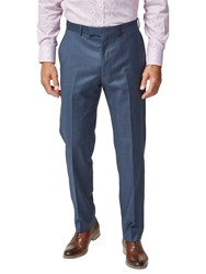 Chester Barrie By Dotted Check Tailored Suit Trousers Blue